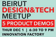 3rd Beirut Design & Tech Meetup
