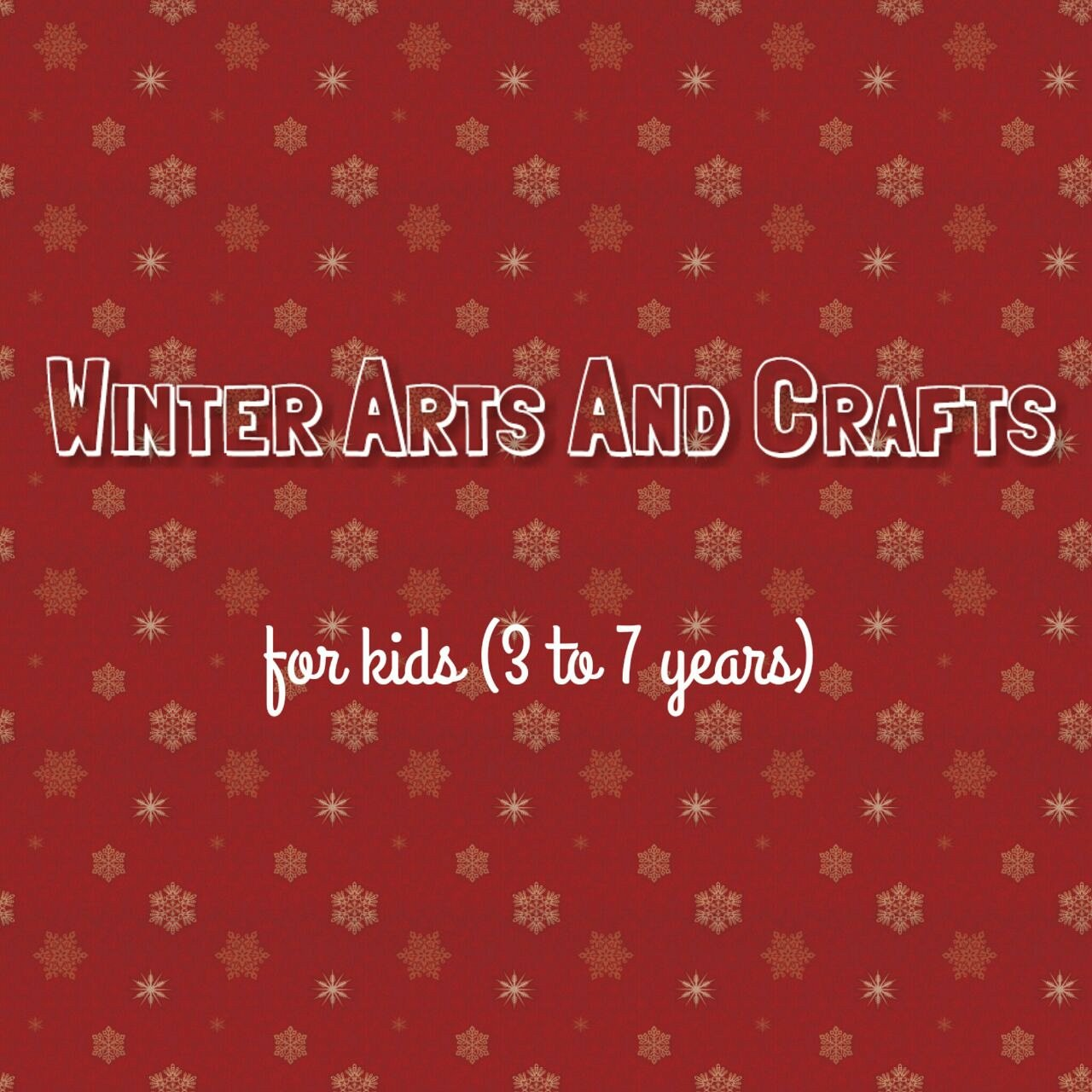 Winter arts and crafts for kids 3 7 years lebtivity for Amazon arts and crafts for kids
