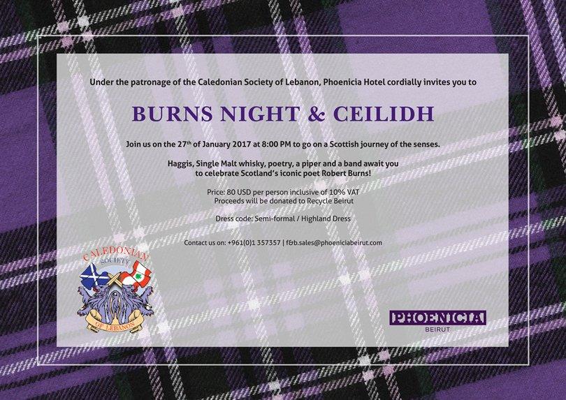 Burns Night Ceilidh Scottish Night Lebtivity