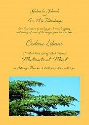 Book Signing of CEDRUS LIBANI by Gabriela Schaub