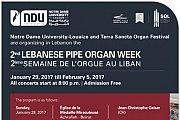 2nd Lebanese Pipe Organ Week - La Semaine de l'Orgue au Liban