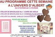 Weekly program at l'Univers d'Albert