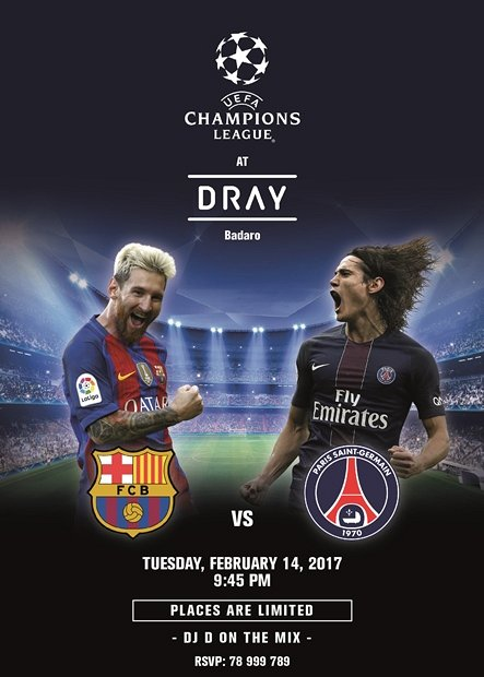 Barcelona Vs Paris Saint Germain