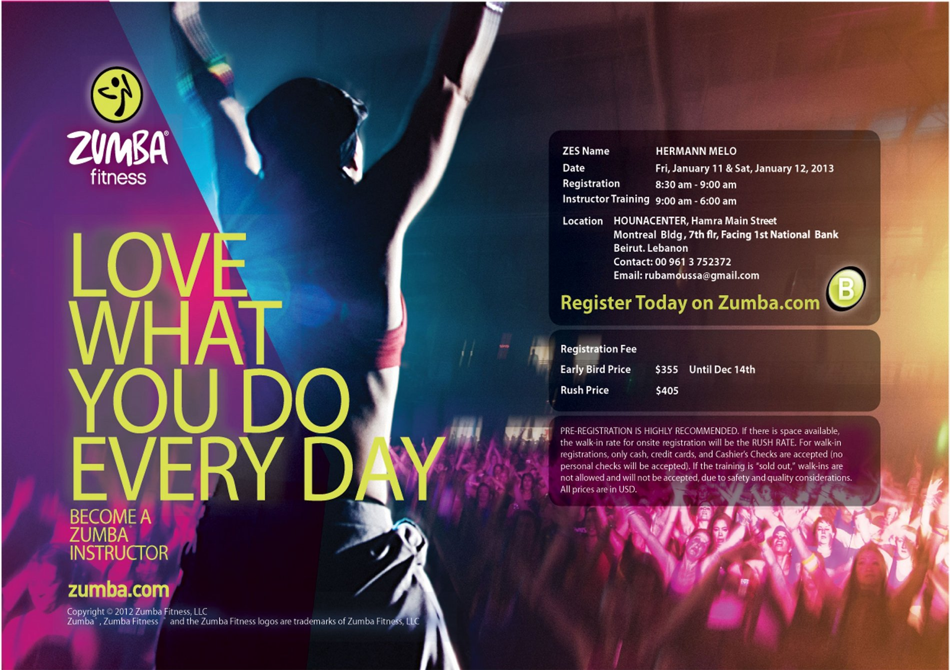 Zumba Fitness With Trainer Hermann Melo Lebtivity