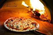Pizza baked in a wood fired oven - Every Monday & Wednesday at Venecia