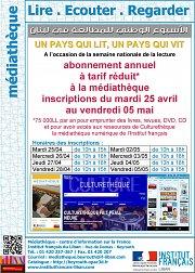 Lire Ecouter Regarder : abonnement annuel à tarif réduit à la médiathèque de l'IF Beyrouth