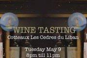 Wine Tasting Cotteaux Les Cedres du Liban