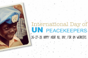 International Day of UN peacekeepers, happy hour all weekend