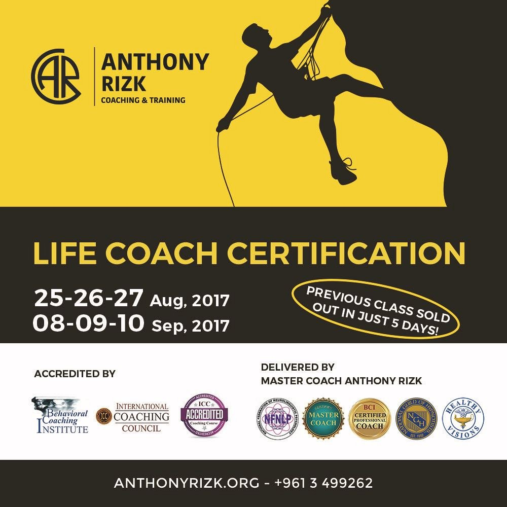 Life coach certification in beirut become a life coach lebtivity xflitez Choice Image
