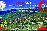 Douma Club 1st rally paper on bikes