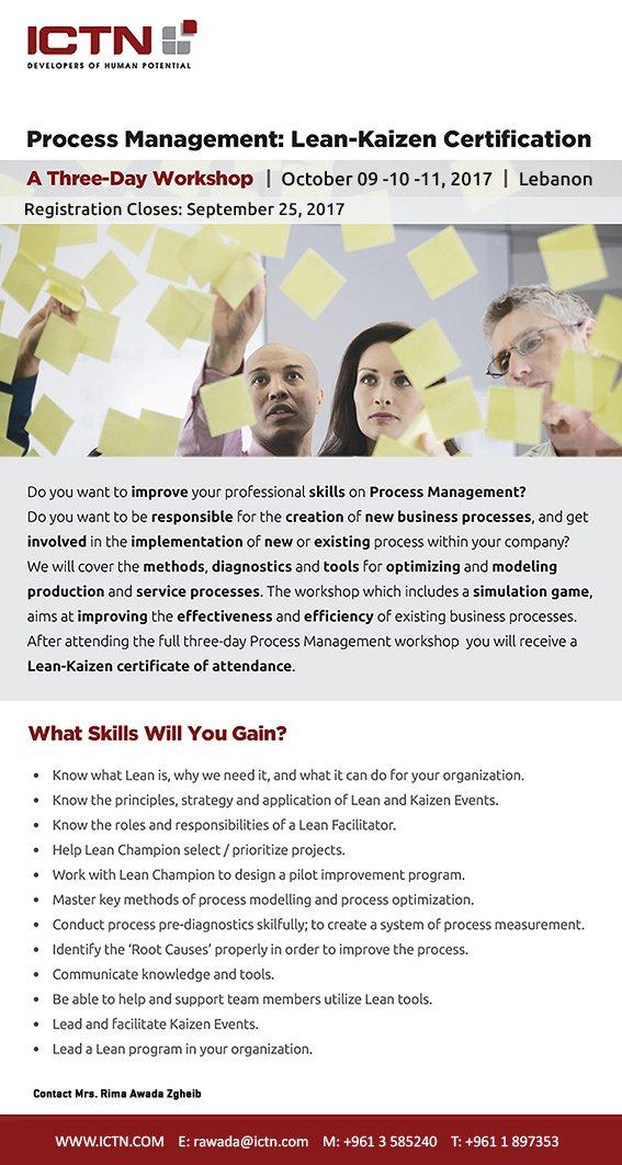 Process Management: Lean-Kaizen Certification « Lebtivity