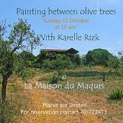 Painting Between Olive Trees