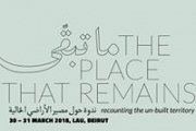 The Place That Remains, Recounting The Un-built Territory