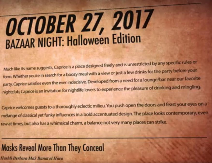 bazaar night halloween edition lebtivity
