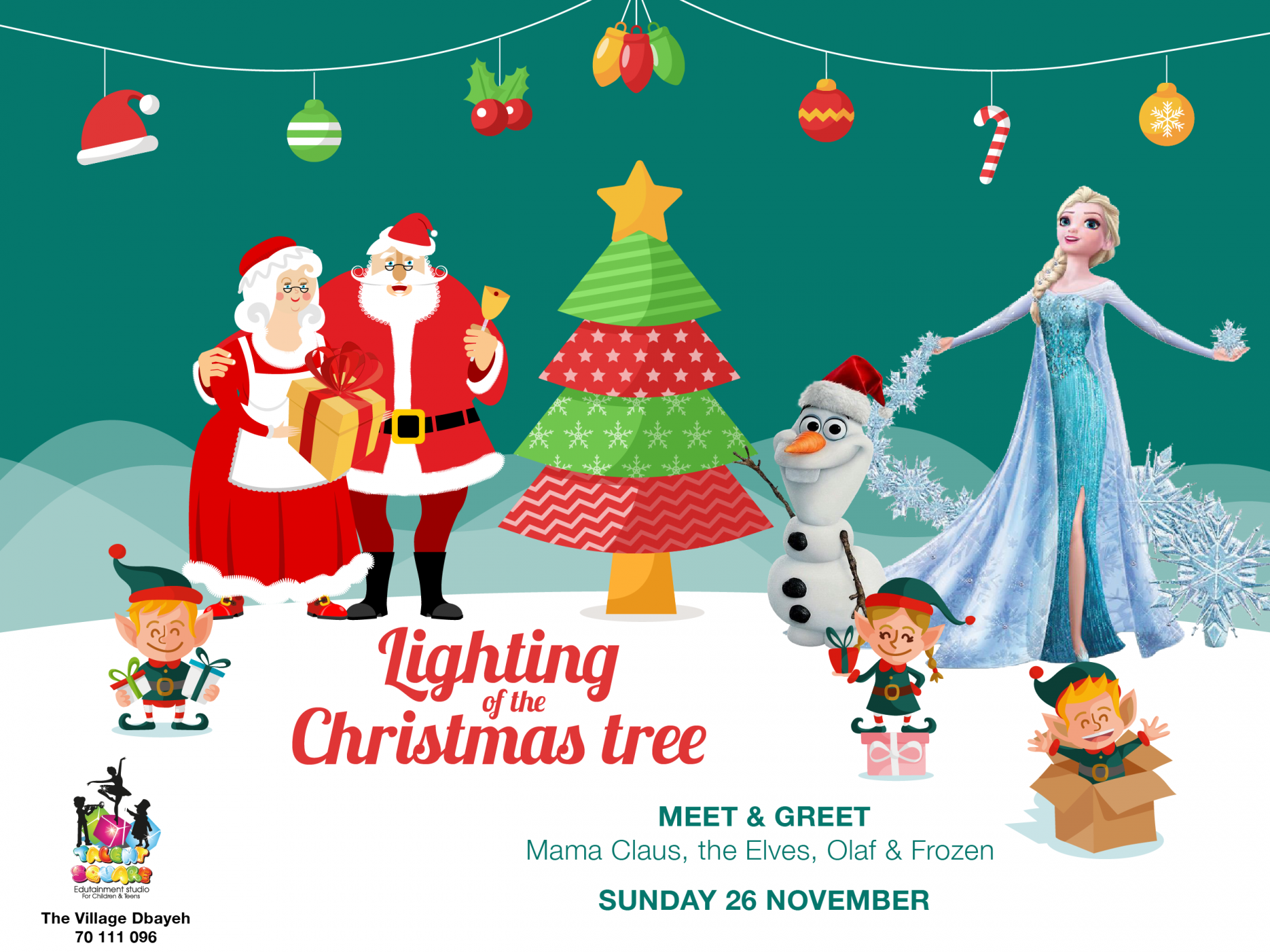 Lighting of the Christmas Tree at Talent Square The Village Dbayeh ...