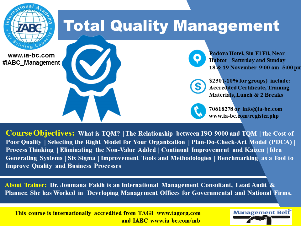 leading tqm in panama Apple is a prime example of a company that utilizes the principles of total quality management (tqm) at their organization to achieve their same is the case in tqm were the primary focus is maximizing the profits but also keeping in mind innovation solutions that do not harm the society that you operate in.