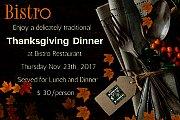 Thanksgiving Dinner at Bistro Restaurant