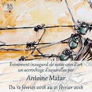 Évènement Inaugural | Accrochage d'Aquarelles par Antoine Matar