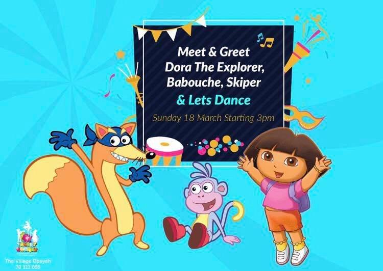 meet greet dora the explorer babouche skiper lebtivity - Dora Babouche