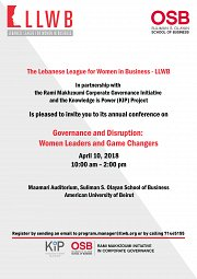 Governance and Disruption: Women Leaders and Game Changers
