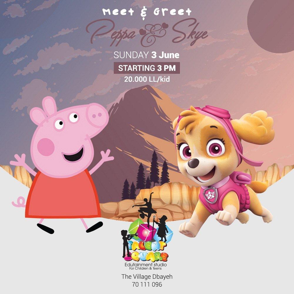Meet Greet Peppa Pig And Skye Lebtivity