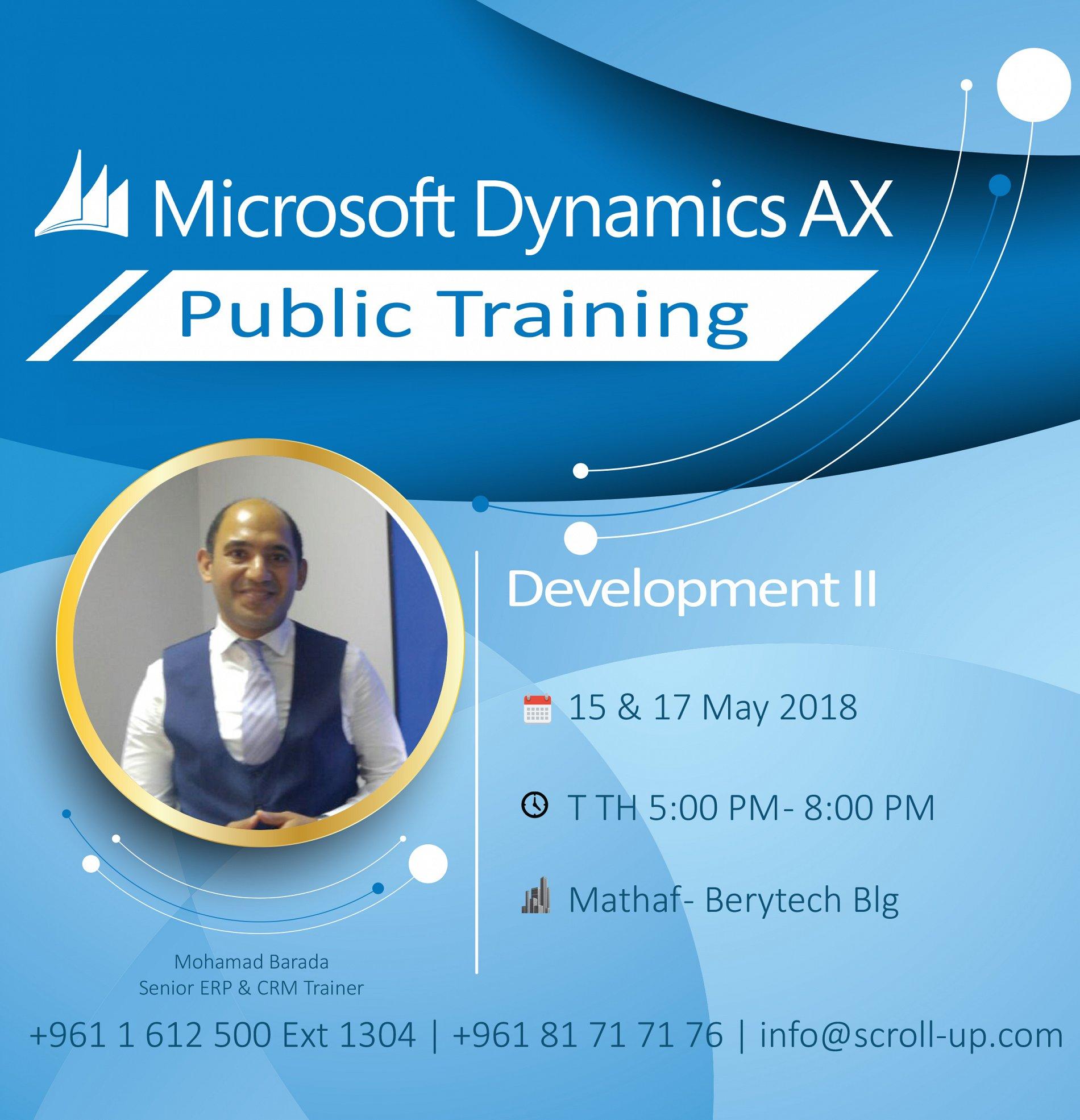 Dev Ii In Microsoft Dynamics Ax Public Training Lebtivity