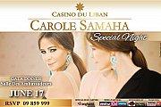 Carole Samaha at Casino du Liban