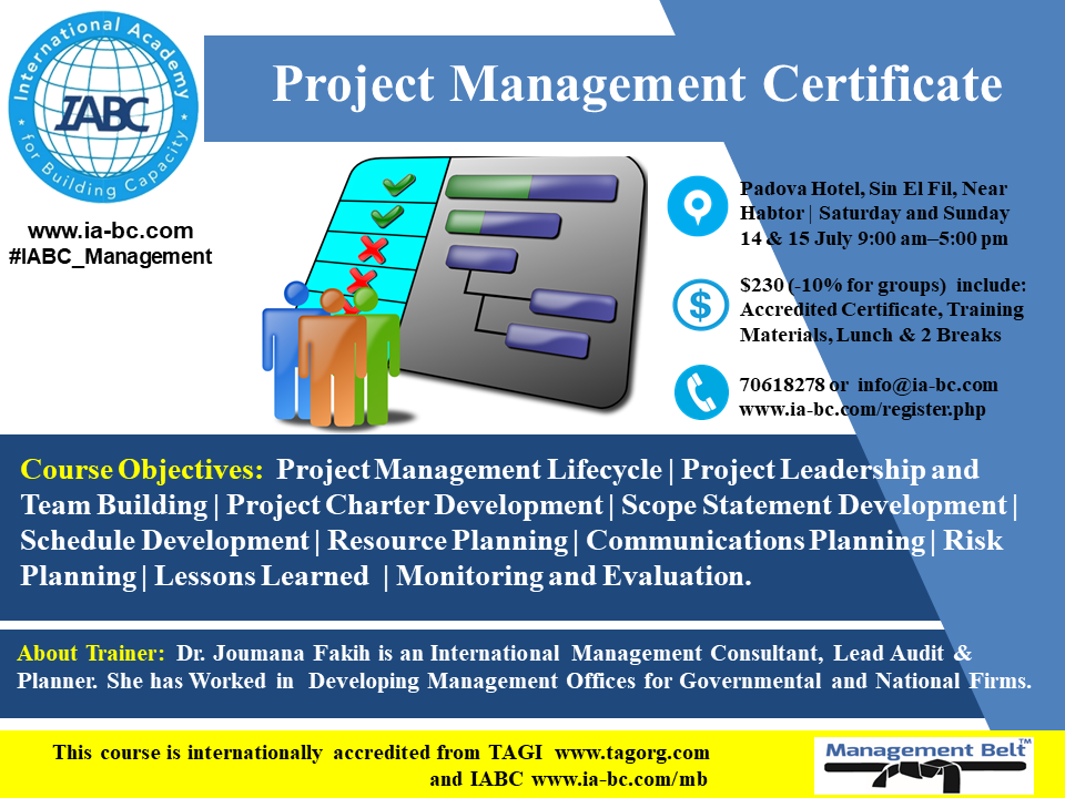 Project Management Certificate Lebtivity