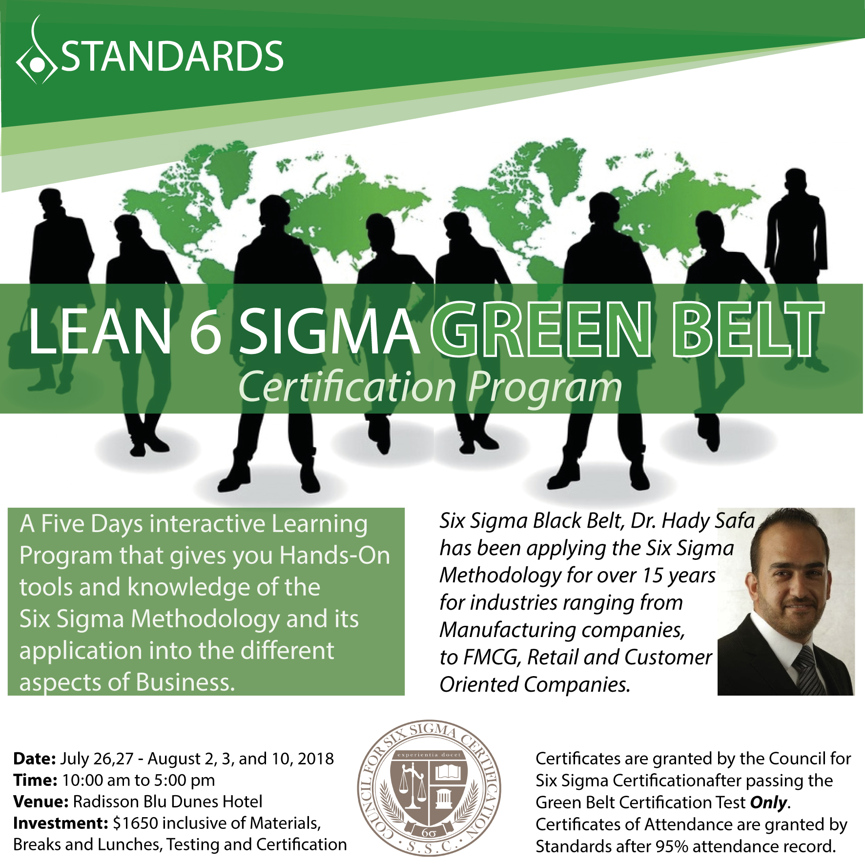 belt sigma certification lean lebtivity standards program
