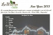 New Year's Eve 2013 at Le Marron Resto