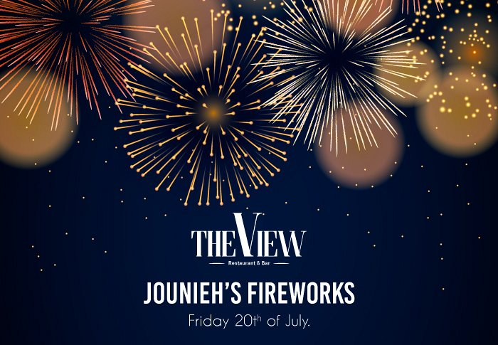 Jounieh's Fireworks from The View Rooftop « Lebtivity