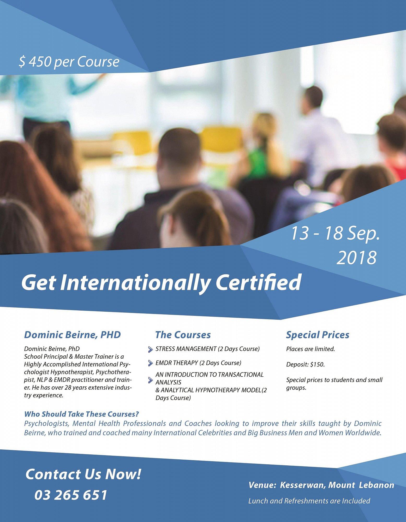 Get Internationally Certified For Psychologistsmental Health