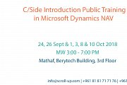 C/Side Introduction in Microsoft Dynamics NAV Public Training