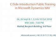 C/Side Introduction in Microsoft Dynamics NAV Public Training