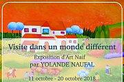 Visite dans un Monde Différent  |  Naive Art by Visual Artist Yolande Naufal