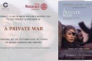 A Private War movie avant-premiere fundraiser