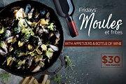 Fridays' Moules et Frites @ Le Gastronome