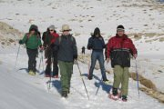 Snowshoeing in Zaarour with Adventures in Lebanon