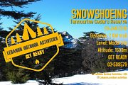 SNOWSHOEING Tannourine Cedars Reserve with Lebanon Outdoor Activities