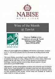 Wine Tasting at Tawlet: Nabise