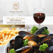 Moules et Frites at Cafe Tournesol