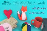 Felt Stuffed Animals at Alwan Salma