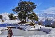 Snowshoeing Hadath el Jebbe with Lebanese Explorers