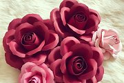 Paper Flower Decoration for Valentine