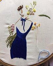 Embroidery at Alwan Salma