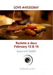 Raclette a Deux at Gordon's Café