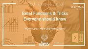 Excel Functions & tricks everyone should know - Workshop at I Have Learned Academy