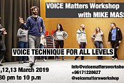 VOICE Matters Workshop with MIKE MASSY ( Edition 22)