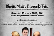 Rhein Main Barock Trio at Lycée libano-allemand