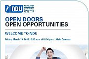 Open Doors, Open Opportunities | NDU